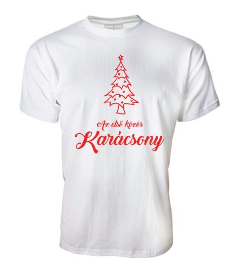 0b14b6f9c8 Első közös karácsony (férfi póló)