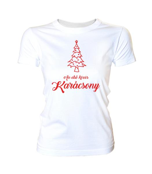 35c6feb2e1 Első közös karácsony (női póló)