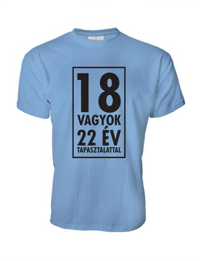 18 vagyok (bármilyen évszámmal kérhető férfi póló) - Polószabó b29965df0d