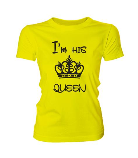 0f4175aac0 I'm his queen (női póló) - Polószabó