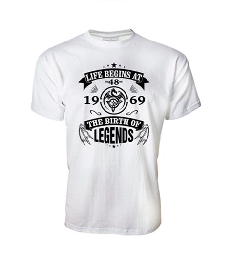 48fffecd96 The Birth of Legends (Bármilyen évvel, évszámmal kérhető férfi póló)