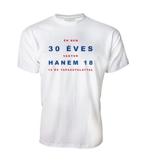 894f5d2b8f Én nem vagyok 30 (Bármilyen születésnapra kérhető férfi póló ...