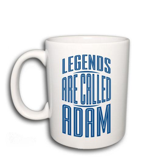 03804c0fed Legends are called (bármilyen névvel kérhető bögre)
