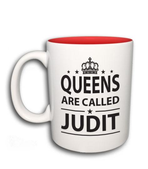 a8c83bb1e3 Queens are called (bármilyen névvel kérhető bögre)